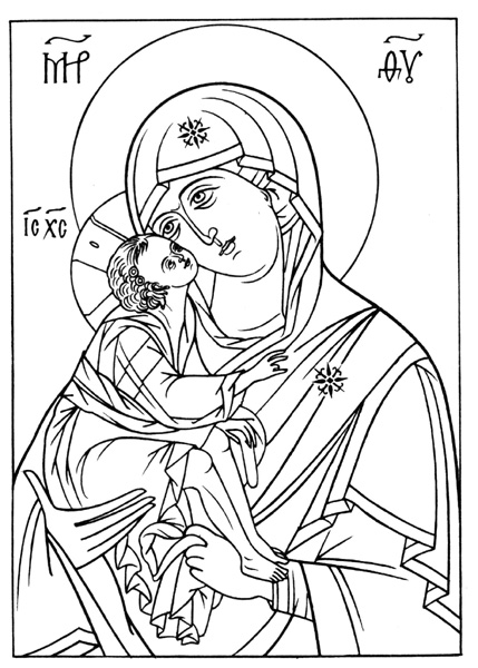 greek icon coloring pages - photo#15