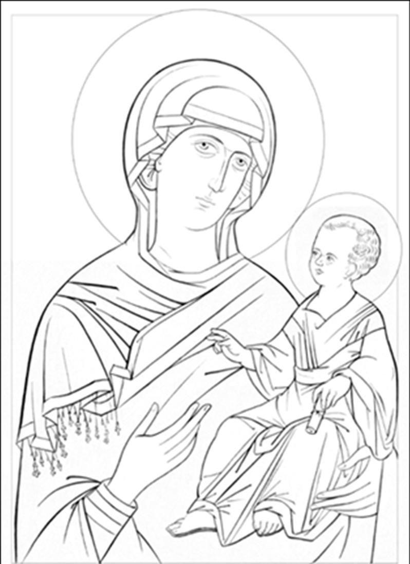 Line Drawing Icons : Byzantine icons religious coloring pages images