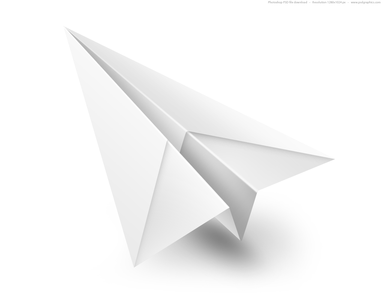 15 Paper Airplane PSD Images
