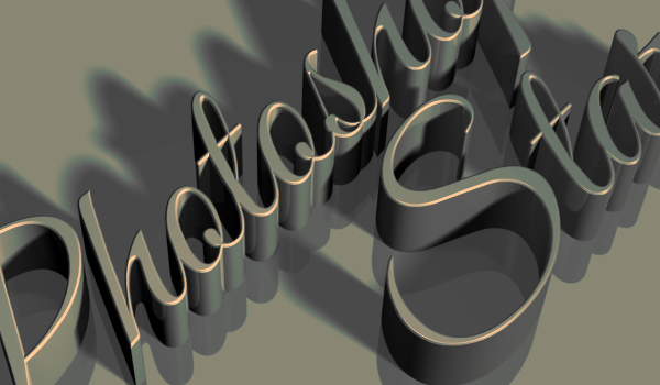 Photoshop CS6 3D Text Effects