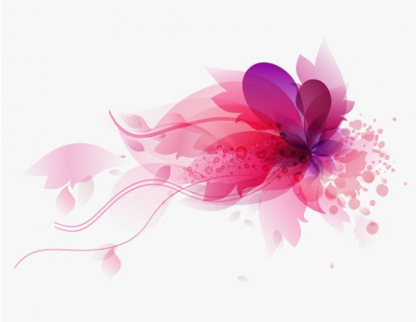 Pink Abstract Floral Vector