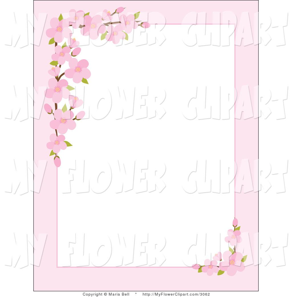 Pink Flower Border Clip Art