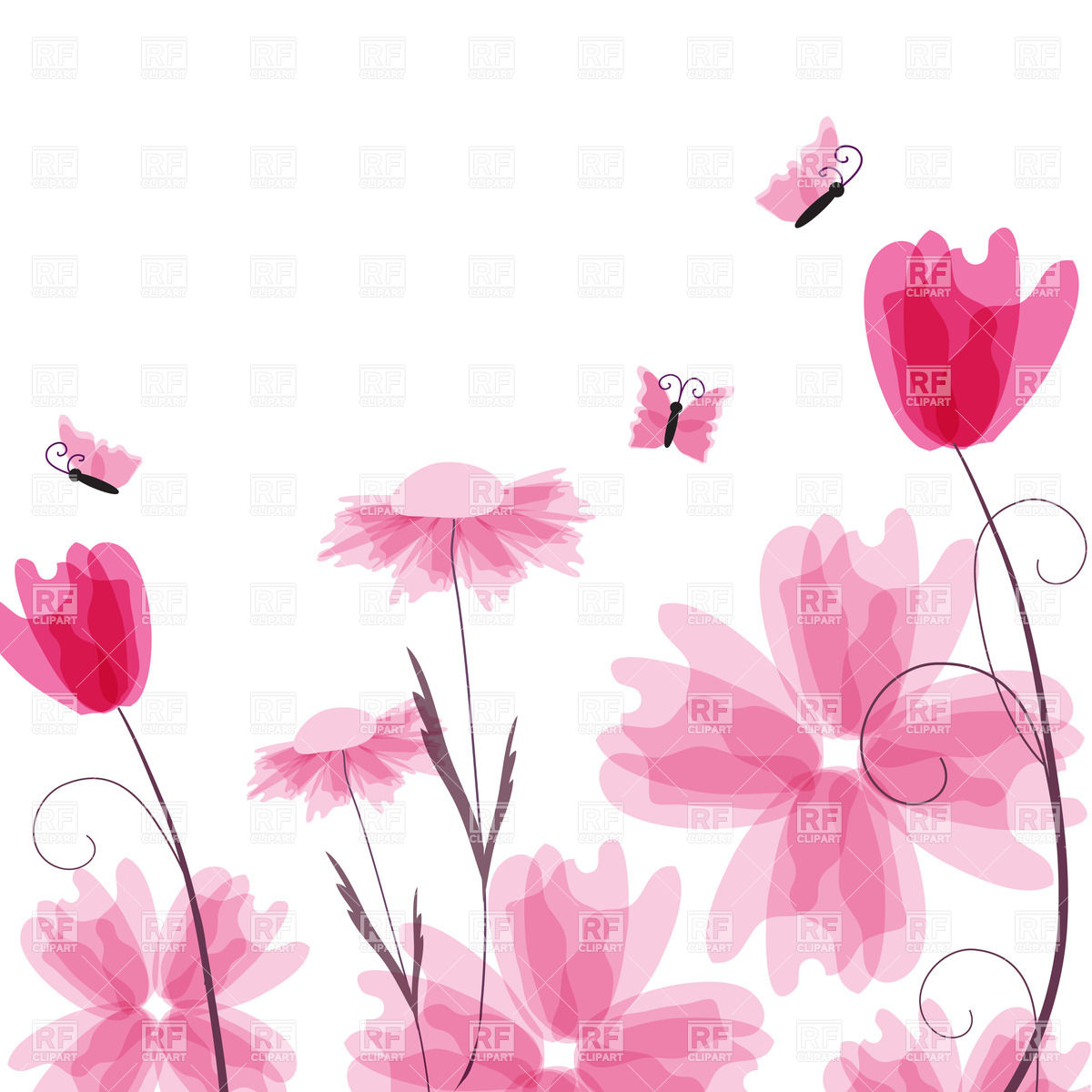 Daisy flower border clip art free flowers healthy pink flower border clip art mightylinksfo