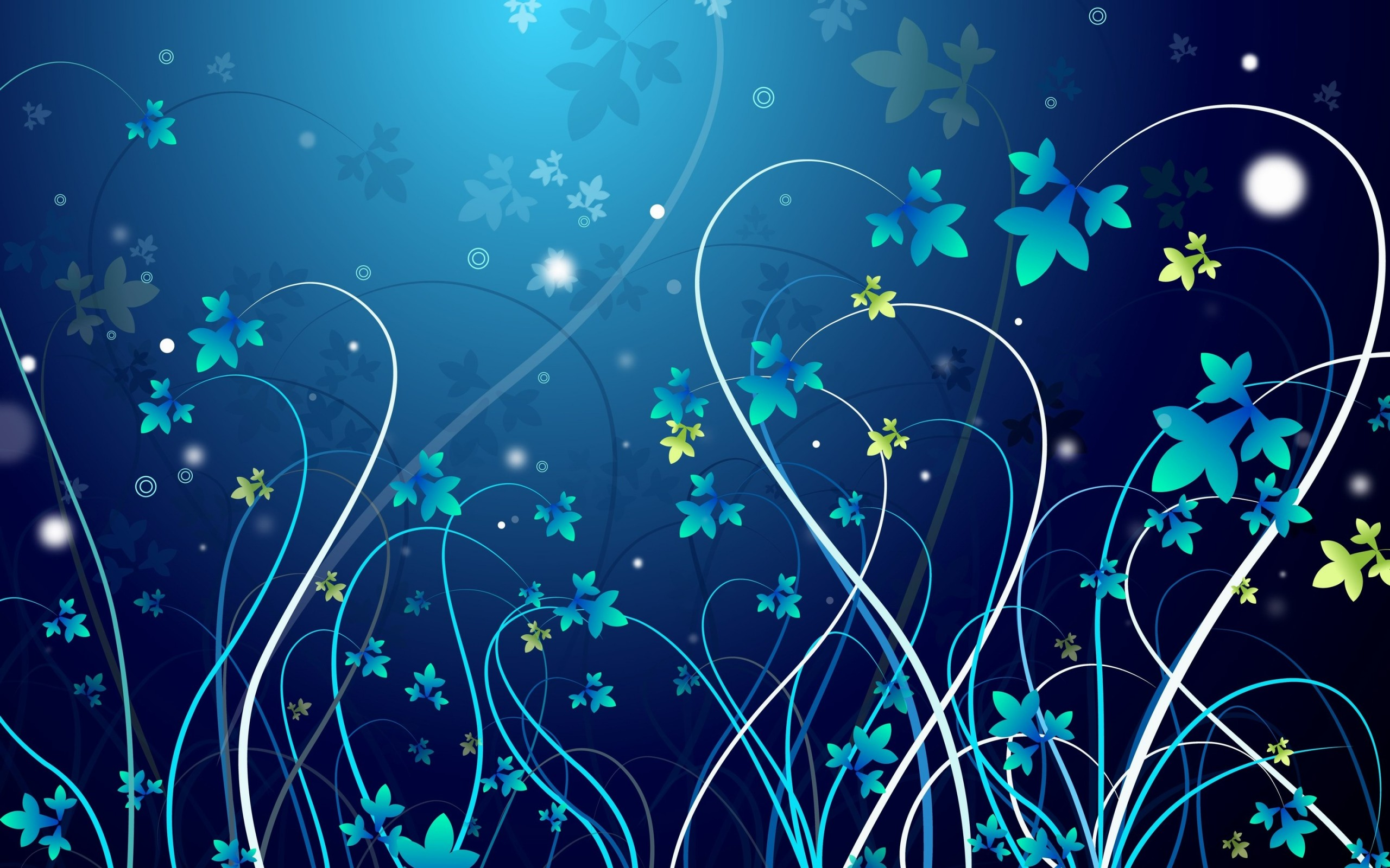 Pretty Blue Flowers Desktop Background Free