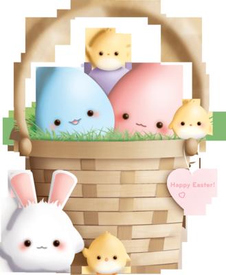 13 Easter Basket PSD Images