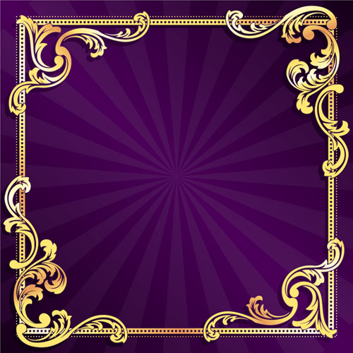 18 Purple And Gold Vintage Background Vector Free Images