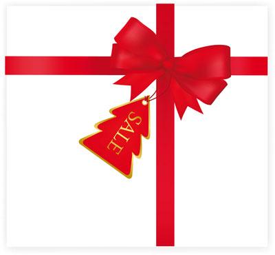 Red Christmas Ribbon Vector Free