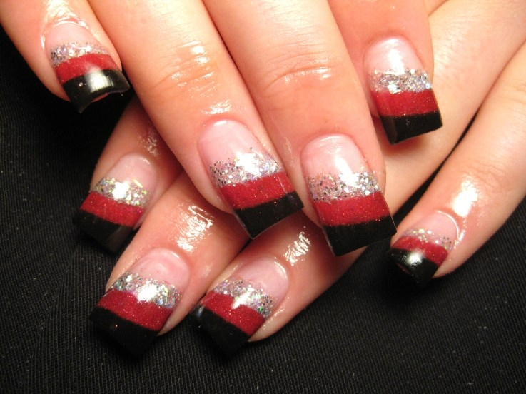 Red French Manicure Nail Designs
