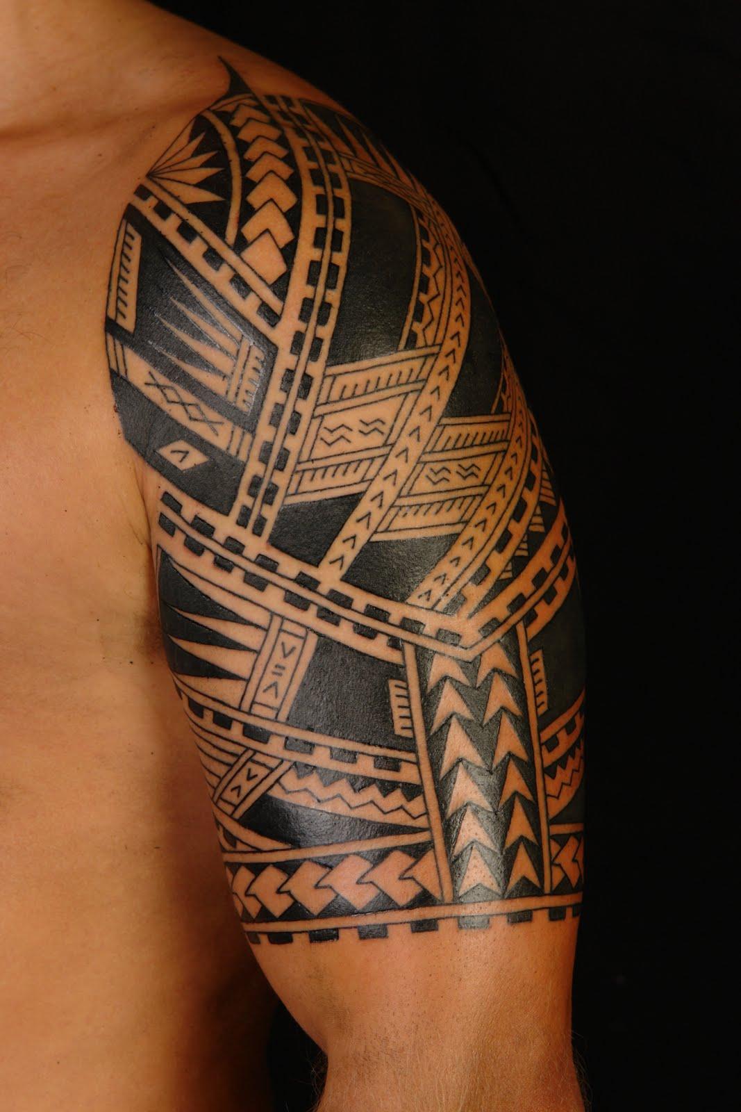 Samoan Half Sleeve Tattoo Designs