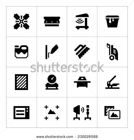 8 Silk Screen Printing Vector Images