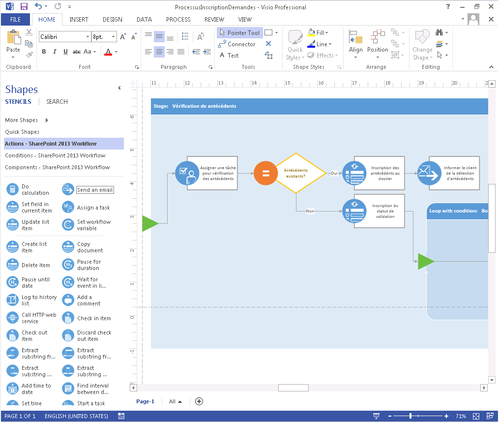 SharePoint 2013 Workflow Visio