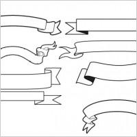 Simple Ribbon Banner Vector Free