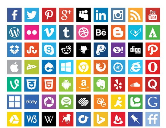 12 Social Media Icons 2014 Vector Fish Images