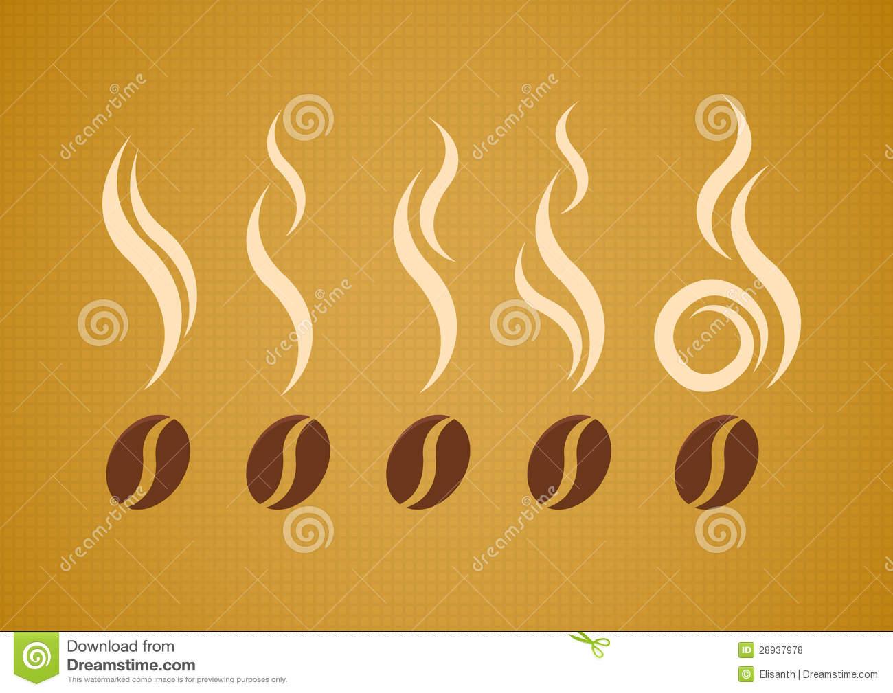Steam Coffee Bean Vector