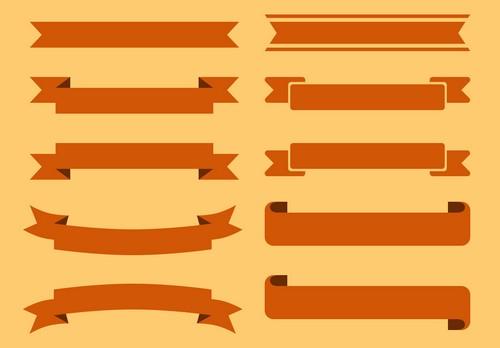 Straight Ribbon Banner Vector