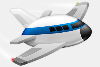 12 Plane PSD Cartoon Images