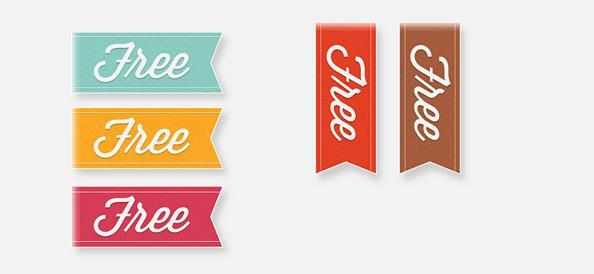 Vector Ribbon Templates