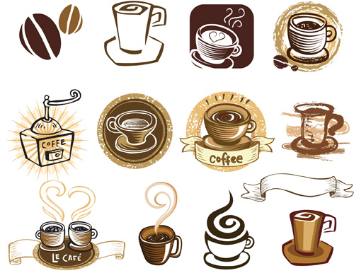 Vintage Coffee Label Clip Art