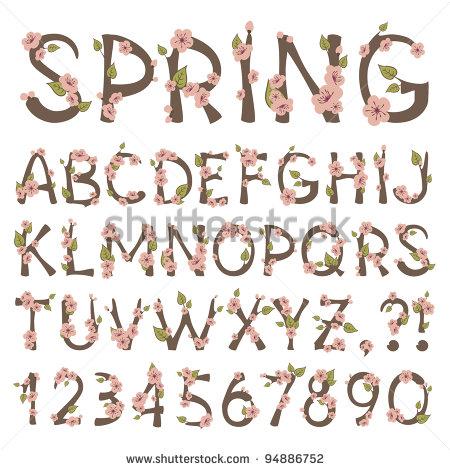 13 Vintage Leaf Font Alphabet Images