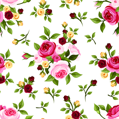 12 Vintage Roses Vector Images