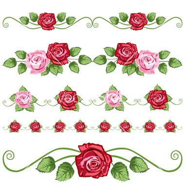 12 Vintage Roses Vector Images - Vintage Rose Pattern ...