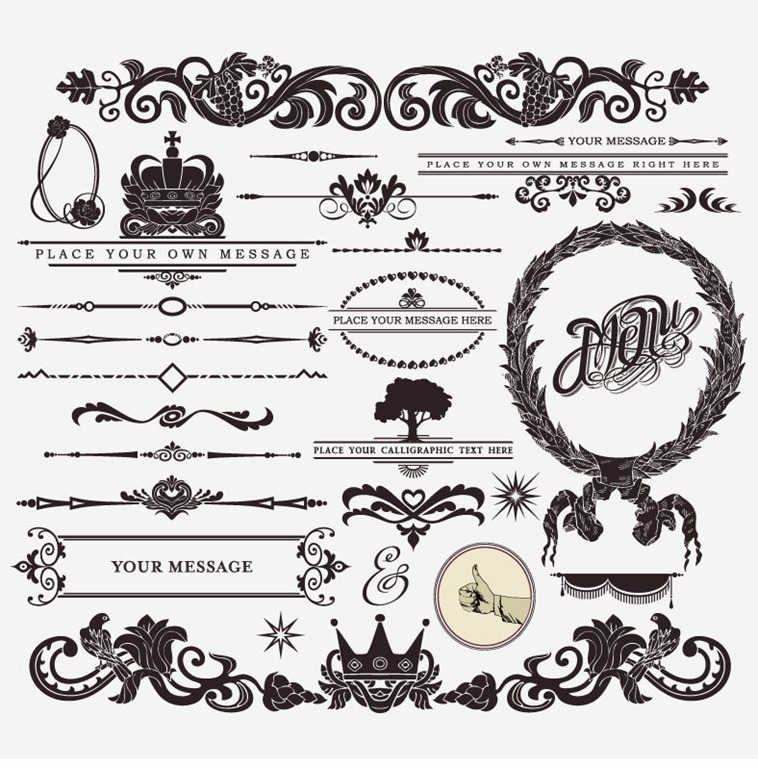10 Free Vintage Vector Design Elements Images