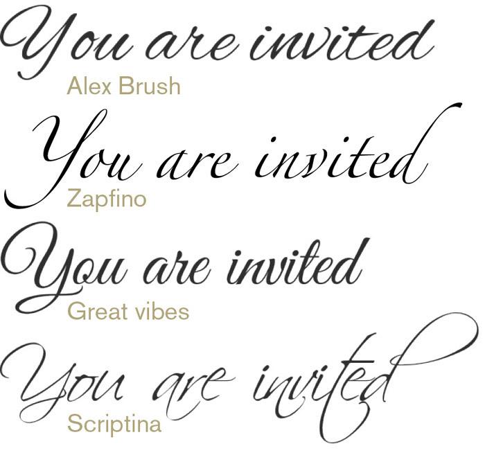 12 Wedding Text Font Images