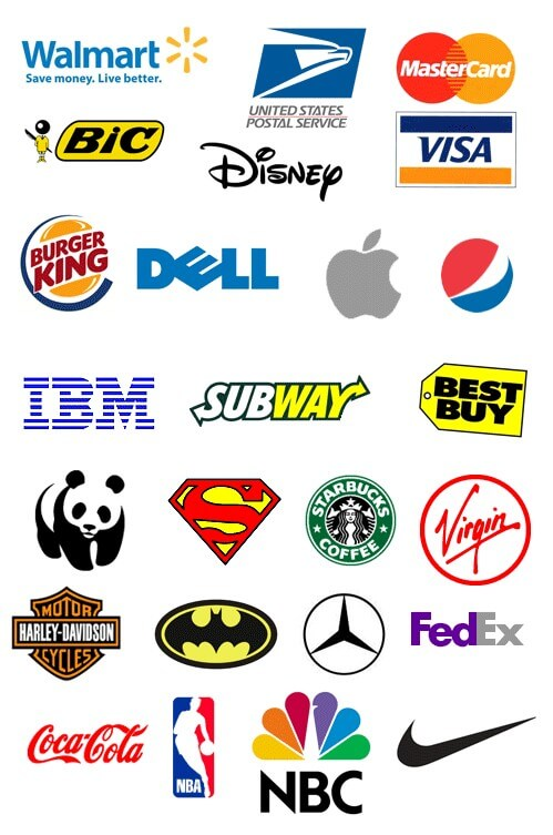Well Known Company Logos