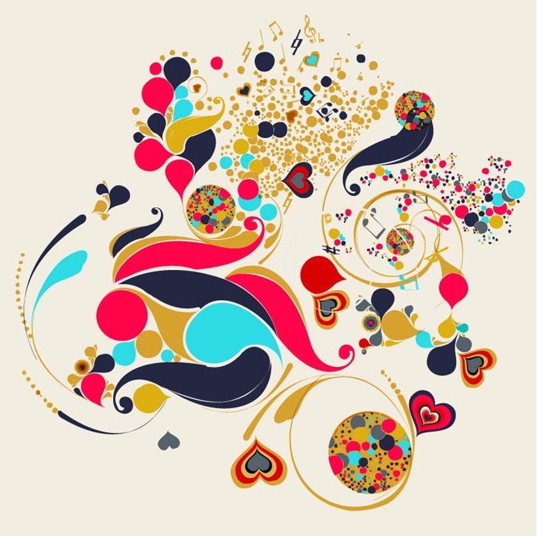 Abstract Vector Art Swirls