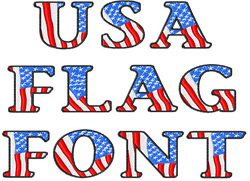 19 American Flag Letter Fonts Downloadable Images