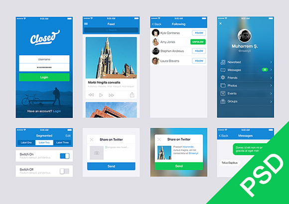 12 Android-App UIKit PSD Images