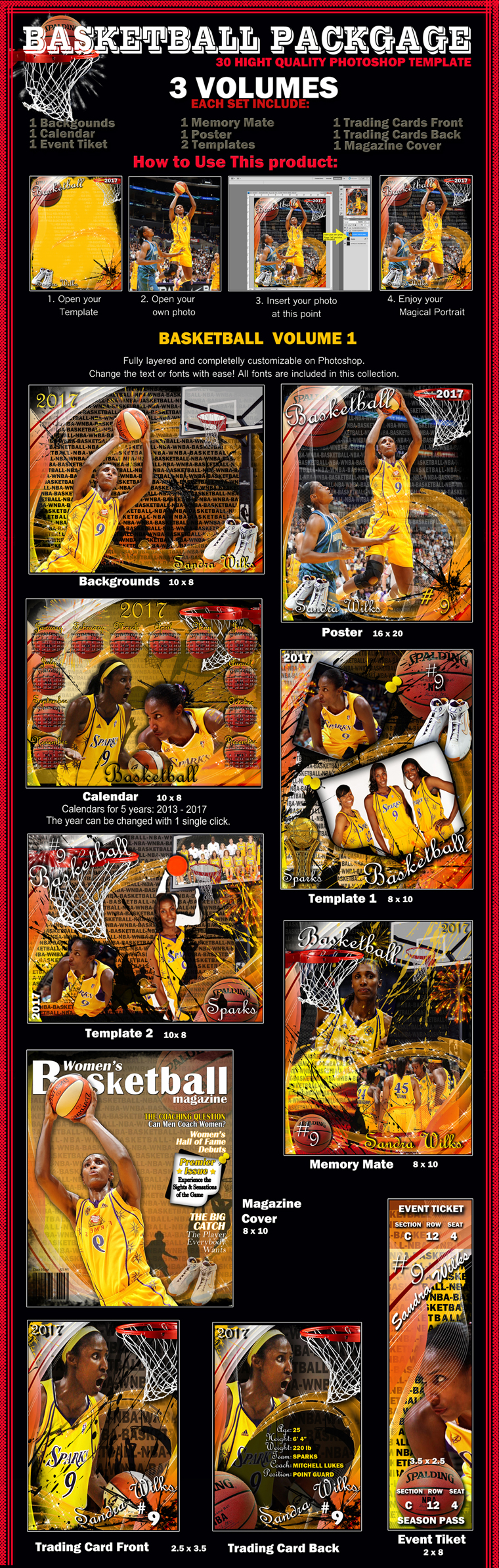 Memory Mate Templates | 13 Psd Basketball Memory Mate Images Photoshop Sports Collage