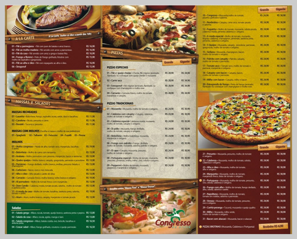 11 Pizza Menu Design Images
