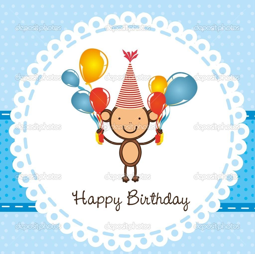 Birthday Monkey Clip Art