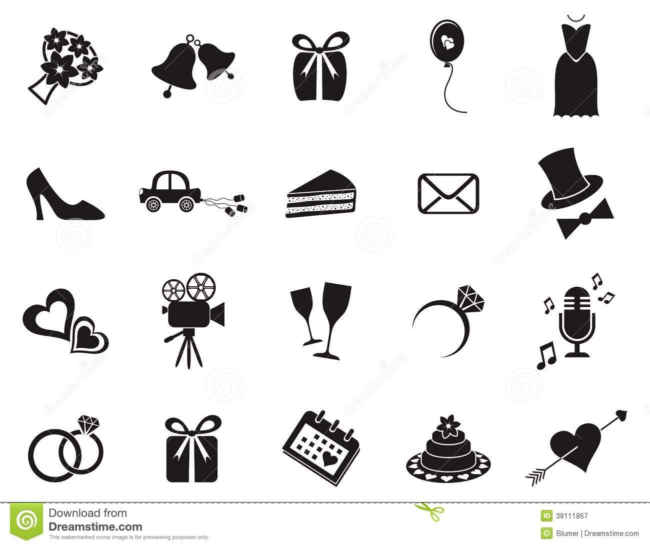 9 Wedding Invitation Icons Images