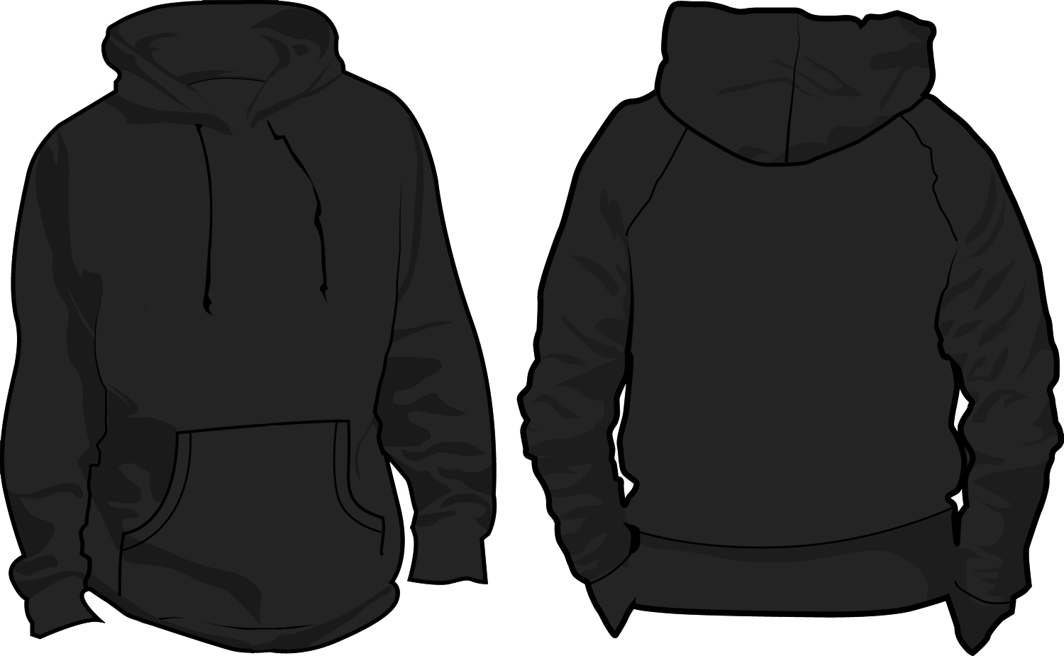 15 Hoodie Template Back Images