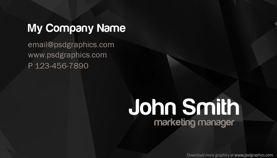 17 dark business card psd template images black business