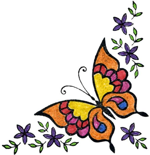 11 Purple Butterfly Corner Border Designs Images - Purple ...