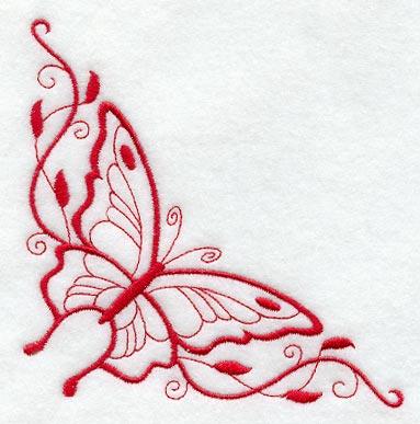 Butterfly Corner Border Designs