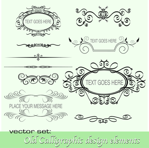 Calligraphy Free Vector Design Element