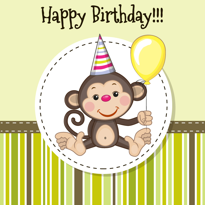15 Birthday Monkey Vectors Images