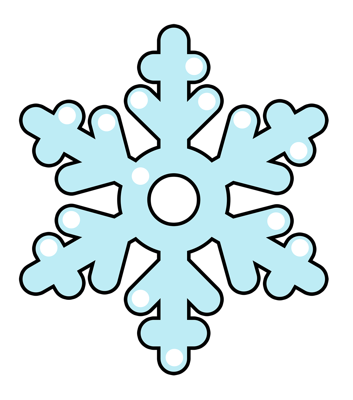 Cartoon Snowflake Clip Art