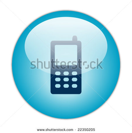 8 Cell Phone Button Icon Blue Images