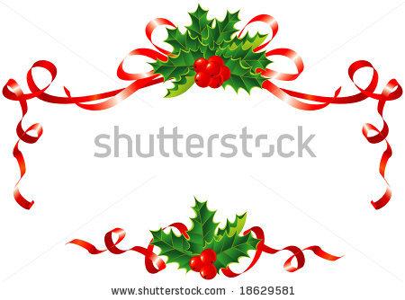 Christmas Ribbon Border Clip Art
