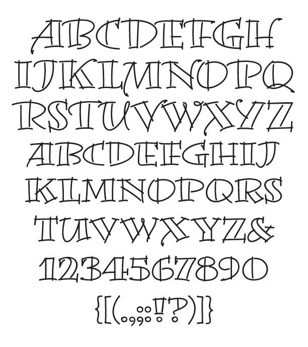 8 Creative Writing Fonts Images - Creative Calligraphy Fonts