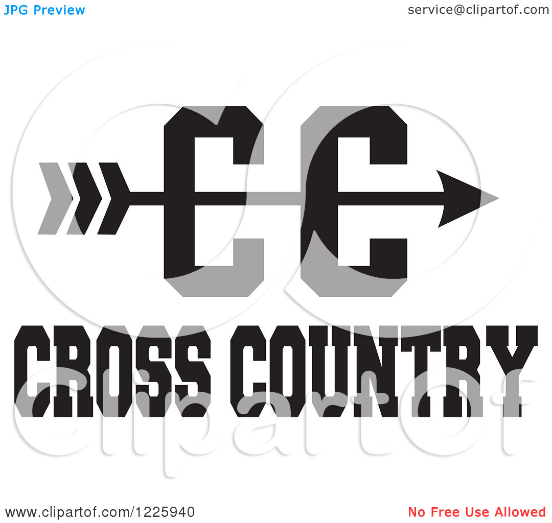 Cross Country Running Arrow