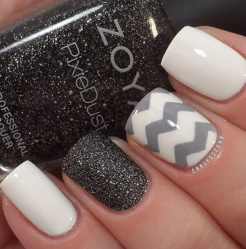 14 Grey And White Nail Designs Images