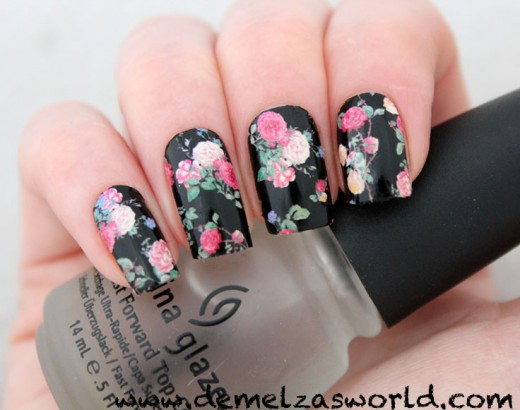 Cute Nail Designs with Flowers