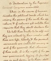 Declaration Independence Font