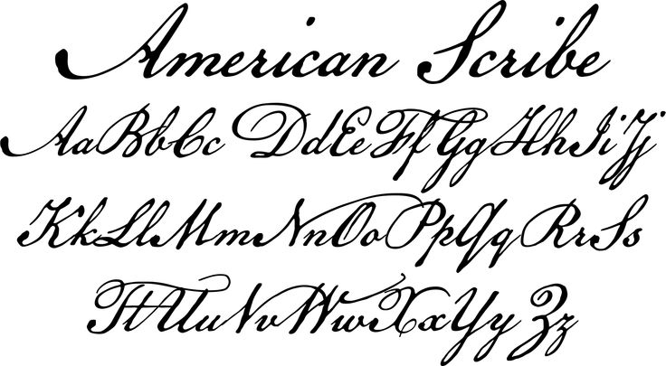 Declaration of Independence Font Style